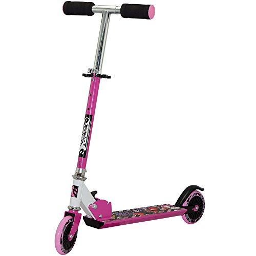 Best Sporting Kinder Scooter,Mehrfarbig (Pink/Schwarz),Dreifach 68,5-73,5-78 cm
