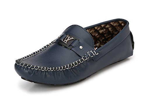 Fucasso Men's Premium Synthetic Blue Loafers - 7 UK
