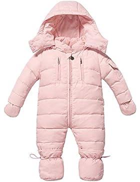 Zoerea Baby Mädchen Junge Schneeanzug Daunenanzug Daunenmantel Strampler Winter Babybekleidung für 0-18 Monate
