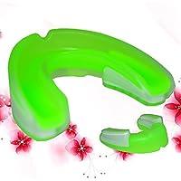Hinmay Tirantes de seguridad para adultos, portátil, para corrector, deporte, protección bucal de los dientes, protector de goma, para boxeo, fútbol, baloncesto y deportes, Green White