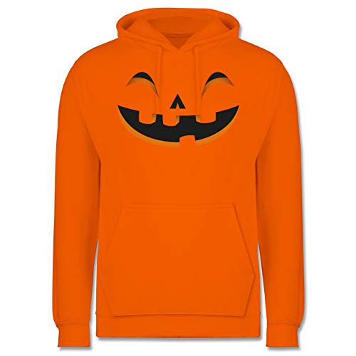Halloween - Kürbisgesicht Kostüm - S - Orange -