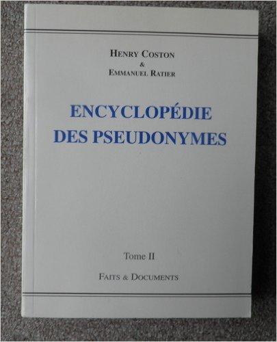 Encyclopdie des pseudonymes, tome 2