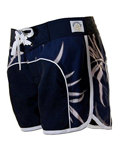SEESTERN Damen Boardshorts Surfshorts Boardshort Surf Short Bade Shorts XS-XXL Blau L