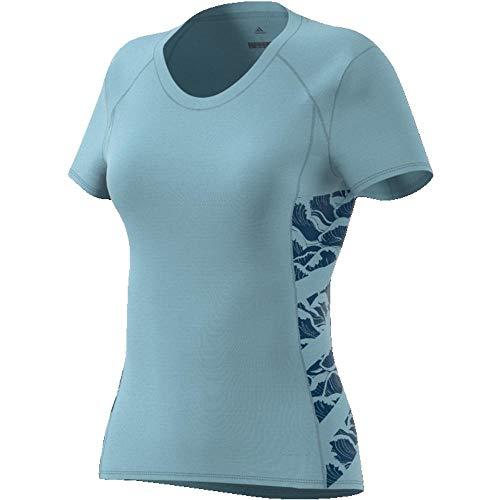 adidas Damen Supernova Cru Parley Kurzarm Shirt, Aschgrau, Größe S -