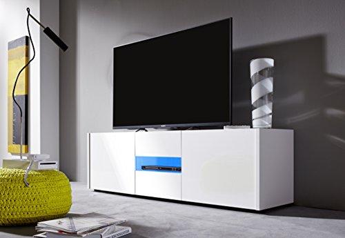 trendteam IM32001 TV Möbel Lowboard weiss Hochglanz lackiert - 2
