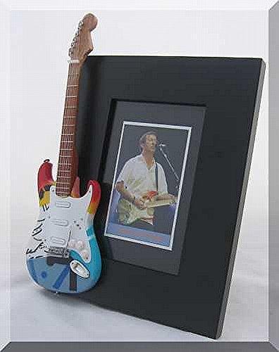 ERIC CLAPTON Miniaturgitarre 1 Bilderrahmen CRASH
