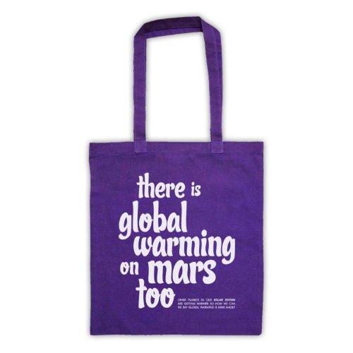 Esiste riscaldamento globale On Mars troppo Protest Tote Bag Viola