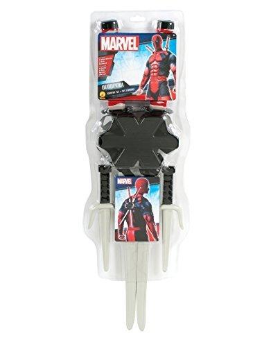 Deadpool Kostüm Zubehör 5-teilig Deko Schwerter Set mit -