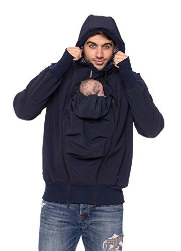 "Tragejacke für Papa + Baby, Bauch/Rücken, Softshell ""Protectis"" - ma..."