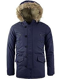 Tokyo Lee Uomo Imbottito Pelliccia Foderato Sherpa Cappuccio Eskimo  Trapuntato Inverno Cappotto Giacca S-XL da51e466ae6
