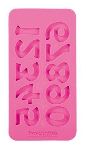 Tescoma 633059 Stampo in Silicone per Pasta di Zucchero, Numeri Retro