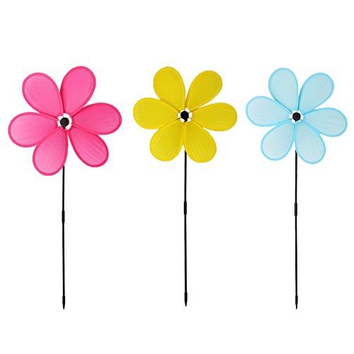 tandougangr Windmühle Spielzeug, Blume Windmühle Windrad Whirligig Garten Dekoration, zufällige Farbe | Garten > Dekoration > Windmühlen | tandougangr