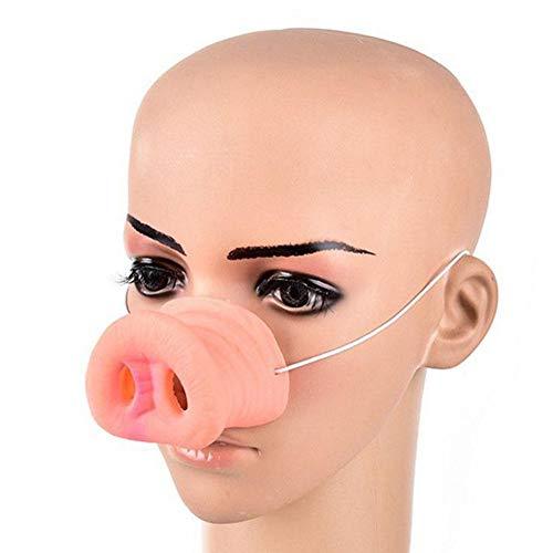 PITCHBLA Halloween Schwein Nase Tier Maske mit Gummiband Rosa Kostüm Masken Brillen für - Tier Maske Kostüm
