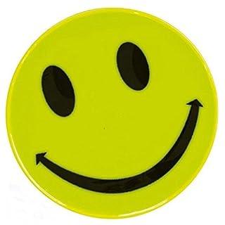 10 Stück Sicherheitsaufkleber SMILE für Schulranzen / Taschen / Koffer - reflektierend - signalgelb