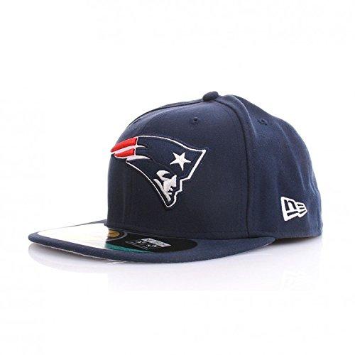 New Era NFL On Field Cap - NEW ENGLAND PATRIOTS - Blue, Size:7 7/8