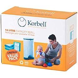 Korbell Nappy-Sacs poubelles pour couches de format standard