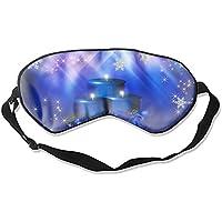 Schlafmaske mit blauem Schneeflocken-Motiv, Unisex preisvergleich bei billige-tabletten.eu