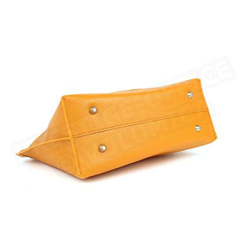 Sac à main M - Marie cuir Fabrication Luxe Française Orange