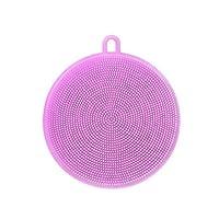 FANKUNYIZHOUSHI Silicone Dish Sponges Silicon Scrub Dish Washing Brush Smart Kitchen Scrubber Kitchen Accessories Purple
