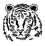 Tiger Katze Gesicht Raubkatze 15cm Aufkleber ohne Hintergrund von SUPERSTICKI® aus Hochleistungsfolie für alle glatten Flächen UV und Waschanlagenfest Tuning Profi Qualität Auto KFZ Scheibe Lack Profi-Qualität