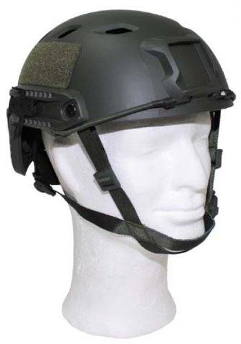 Max Fuchs US Helm, FAST-Fallschirmjäger, oliv, Rails, ABS-Kunststoff