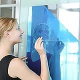 GE&YOBBY Fogli A Specchio Flessibili,Morbido Non Vetro Self-Adesivo Riflettente Chrome Argento Argento Avvolgere Adesivo Decalcostatore Foglio A 50x200cm(20x79inch)