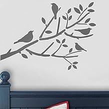 pochoir peinture murale arbre. Black Bedroom Furniture Sets. Home Design Ideas
