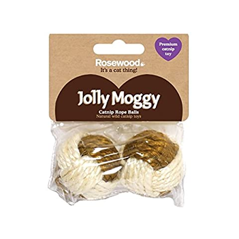Jolly Moggy Catnip Rope Balls Twin Pack