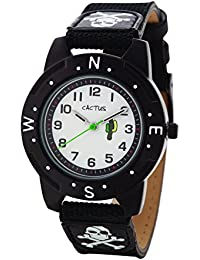 Cactus CAC-73-M01 - Reloj de pulsera niños, Plástico, color Negro