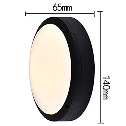 Aluminum Button-Type Round Wall Lamp European Outdoor Dustproof Led Ceiling