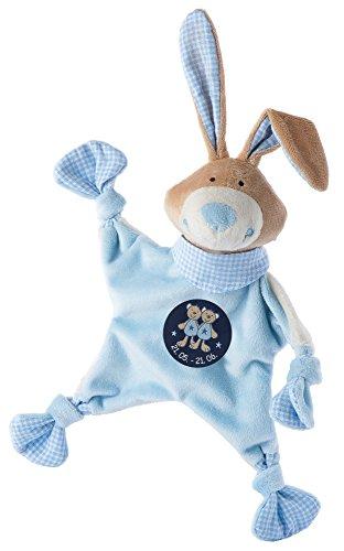 sigikid, Jungen, Schnuffeltuch, Hase mit Sternzeichen Zwillinge, Blau, 48830