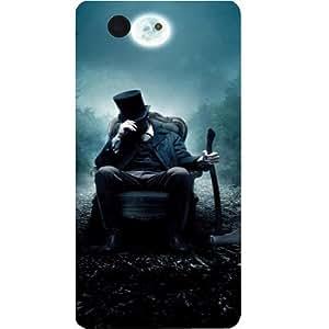 Casotec Abrahim Lincon Print Design Hard Back Case Cover For Sony Xperia Z3 Mini