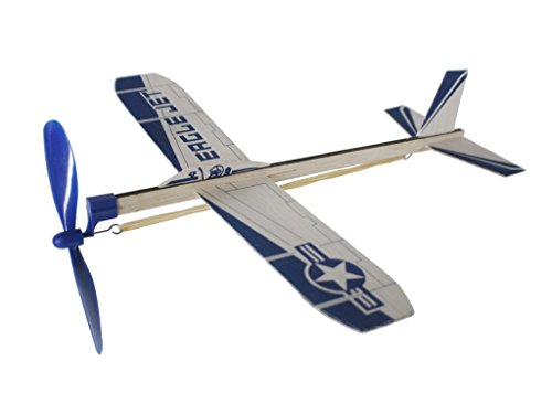 CAL FUSTER - Wooden Glider Plane with Rope Helix. Measurements: 30x30 cm.