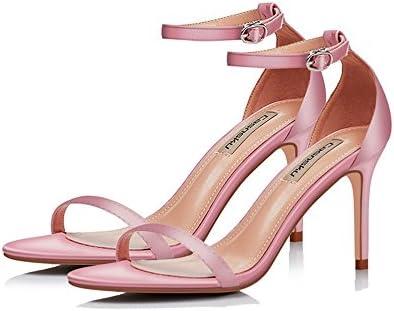 GAIHU Rosa, Rojo 8.5cm zapatos con tacones altos, una hebilla con multa Sexy tacones, sandalias, Casual Estudiante
