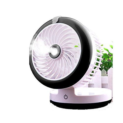 ZZHDDP Usv kleiner Lüfter Wiederaufladbare Kühlung Befeuchtungsventilator Student Schlafsaal Büro Sprüher Fan Mini-Bett mit Klimaanlage Ventilator (3 Farben optional) (12 * 9cm) (Farbe : - 2000 U Min-dc Motor /