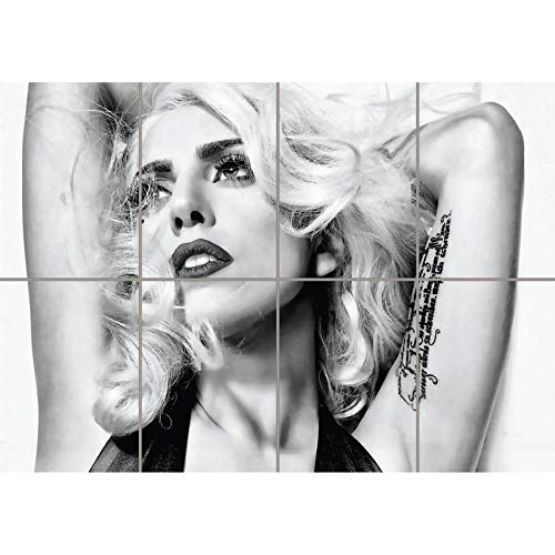 LADY GAGA BLACK AND WHITE GIANT WALL ART PRINT PICTURE POSTER PLAKAT DRUCK G1182