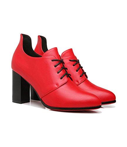 XTIAN , Bottes classiques femme Rouge