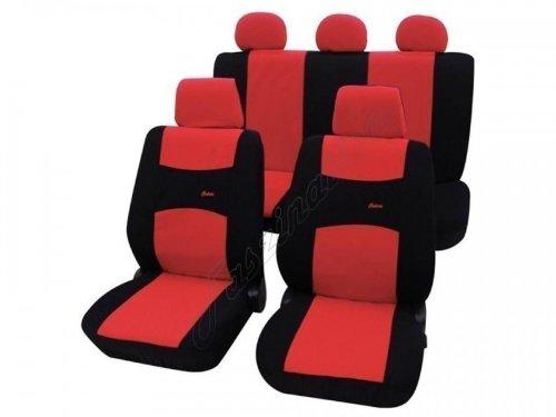 Faszination. Coprisedili per auto, set completo, Fiat Panda 750, rosso nero