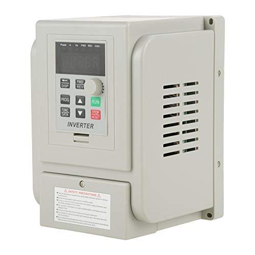 Frequenzumrichter, AC 220V 1.5KW Frequenzumrichter VFD Drehzahlregler für 3-Phasen-Motor, Hitzebeständig und Flammwidrig - 3-phasen-motor