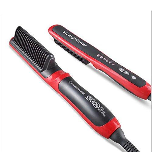 LL-Haarglätter Durable Elektrische Gerade Haar Kamm Pinsel LCD Beheizte Keramik Haarglättung Pinsel (Dual Voltage-pinsel)