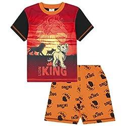 Pijama Corto Unisex de Disney Lion King para niñas Negro Negro (5-6 Años