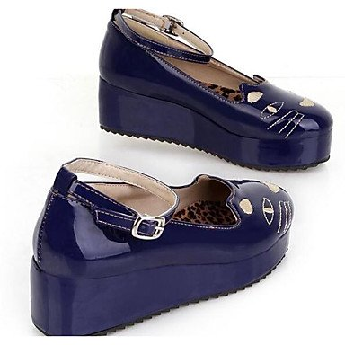RTRY Scarpe Da Donna In Pelle Di Brevetto Primavera Estate Comfort Tacchi Per Casual Blue Rosso Nero Beige US8.5 / EU39 / UK6.5 / CN40