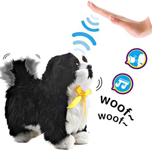 deAO Interactive Electronic Haustier Dog Toy mit Bellen, Gehen, Schwanzwedeln, Berührungserkennung und Musikfunktionen für Kinder