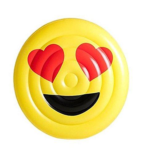 EODUDO-S Smiley-Gesicht, das aufblasbares Sich hin- und herbewegendes Schwimmbecken-Erwachsene Kinderstrand-Smiley-Muster des Wasser-im Freien schwimmt, Weitere Stile