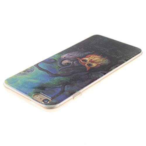 Ooboom® iPhone 5SE Coque TPU Silicone Gel Housse Étui Cover Case Souple Légère Ultra Mince pour iPhone 5SE - Chouette Chouette