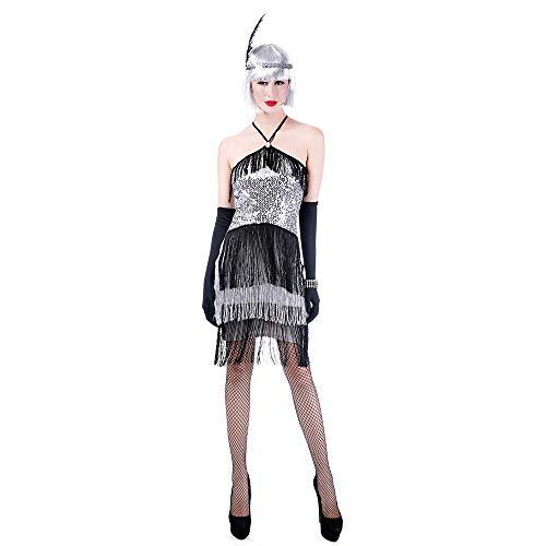 OrdesPan Fringe Bühnenaufführung Kostüm Kostüm, Erwachsene Frauen der Partei Kugel Silber Rock Party (Unsichtbare Alien Kostüm)