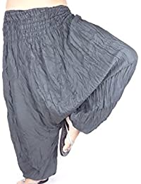 Sarouel Femme Gris Pantalon Ethnique Aladin Harem Pant Aladdin Hippie boho  grey 8450a8b219c