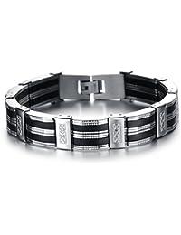 Jewow Bijoux acier inoxydable Bracelet pour les Homme 22CM