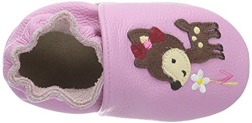Rose & Chocolat Flowers Pattern Mint, Chaussons premiers pas bébé fille Vert - Vert menthe
