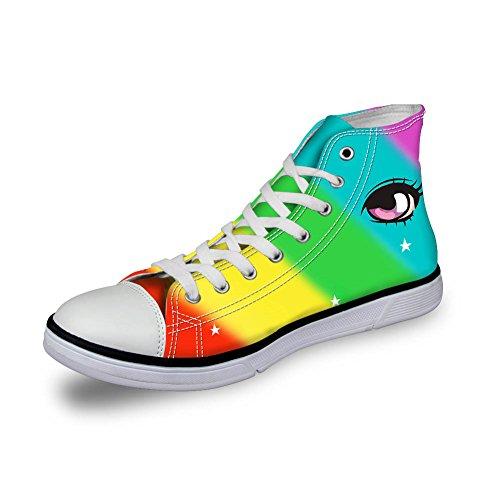 Coloranimal Pantofole a Stivaletto Donna Rainbow Color-5